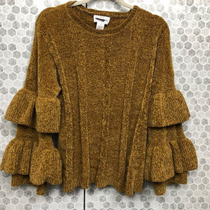 The Republic Sweater with Ruffle Sleeves Sz L